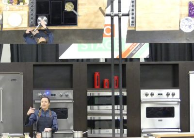 Demo Stage where chefs created and taught about current industry trends